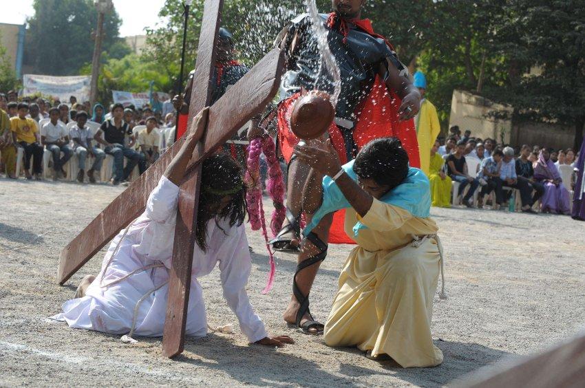 Распятие в Хайдарабаде
