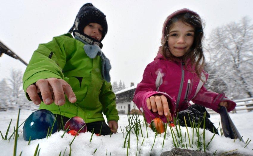 Снег на Пасху в Баварии