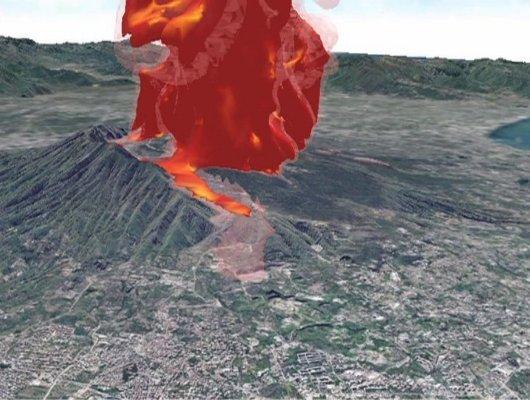 Учёные симулировали извержение Везувия