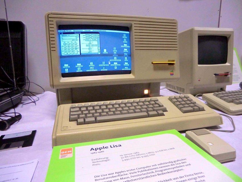 Apple Lisa - первый комьютер, управляемый с помощью мыши