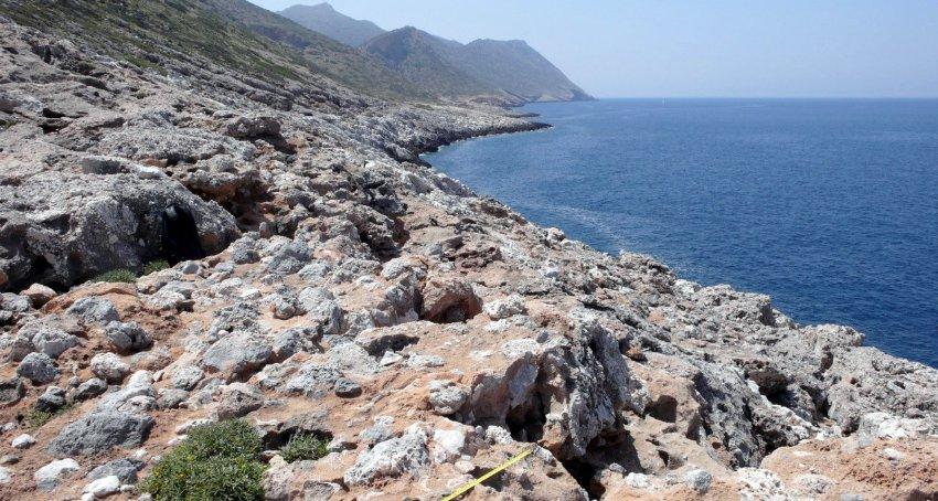 Место находки на Крите