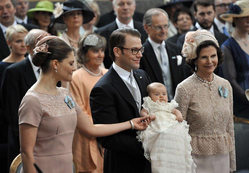 Наследная принцесса Виктория, принц Даниэль и королева Сильвия