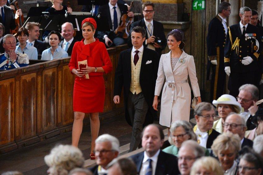 Наследная принцесса Максима из Нидерландов, наследный принц Фредерик изДании и принцесса Маделайн из Швеции