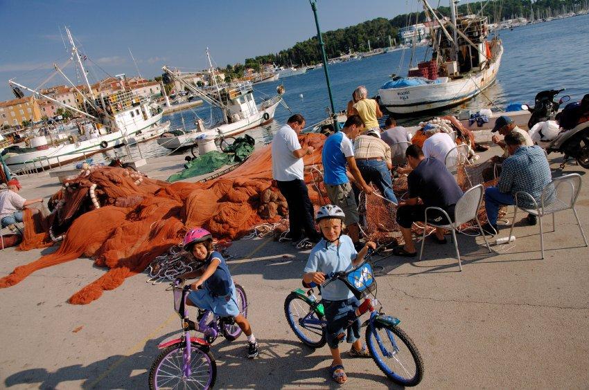 Порт г.Ровинь на западном побережье Истрии