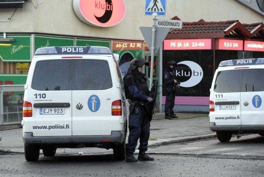 Полицейские на месте происшествия