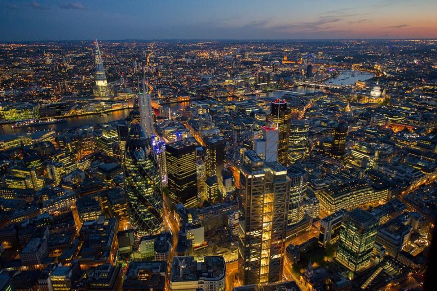Лондон Сити, башня Heron, Швейцарская башня Re и башня 42