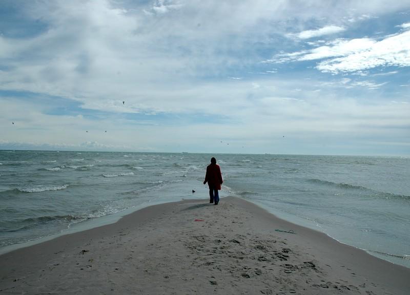 Скаген, место где встречаются два моря