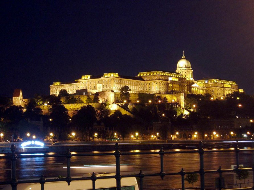 Ночной Будапешт, вид на здание Парламента