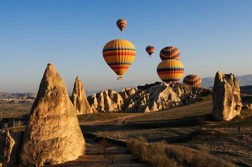 На воздушном шаре над долиной Гореме