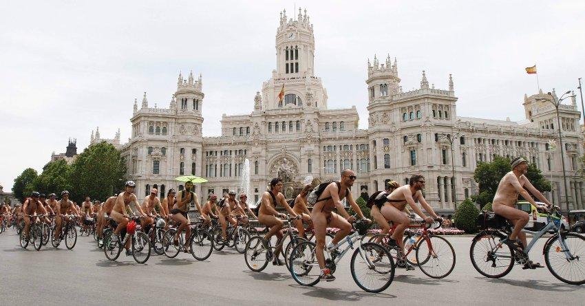 Акция протеста в Мадриде