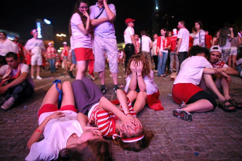 Поражение польской команды буквально сразило болельщиков