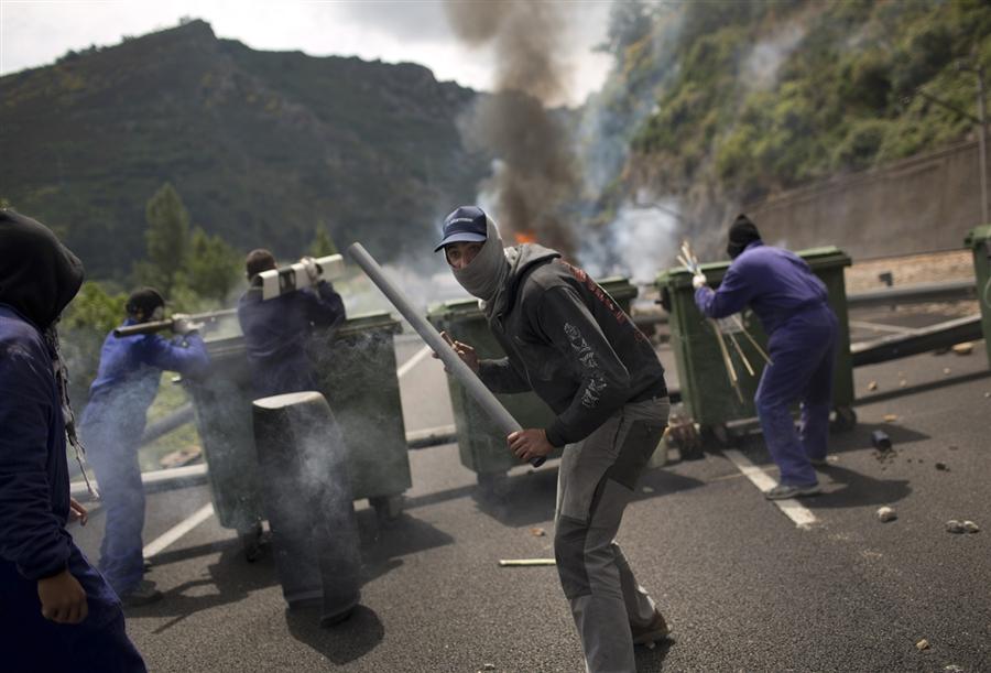 Забастовка испанских шахтеров