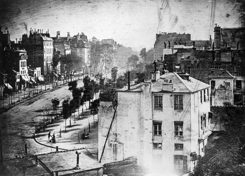 "Снимок Дагерра ""Boulevard du Temple"", 1839 г"