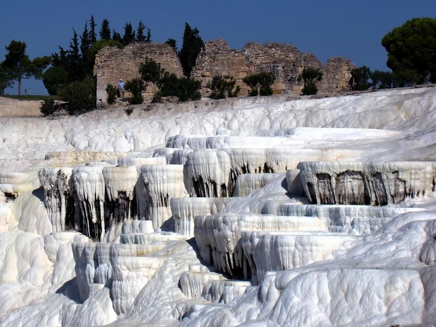 Памуккале, термальные источники Турции, объект Всемирного Наследия ЮНЕСКО