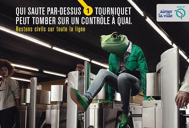 Социальная реклама в парижском метро