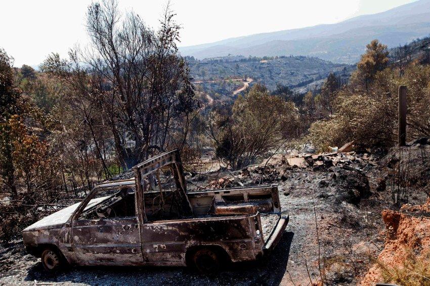Пожары в Испании