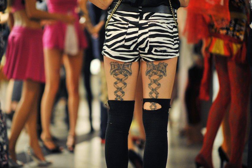 Показ мод в берлинском метро
