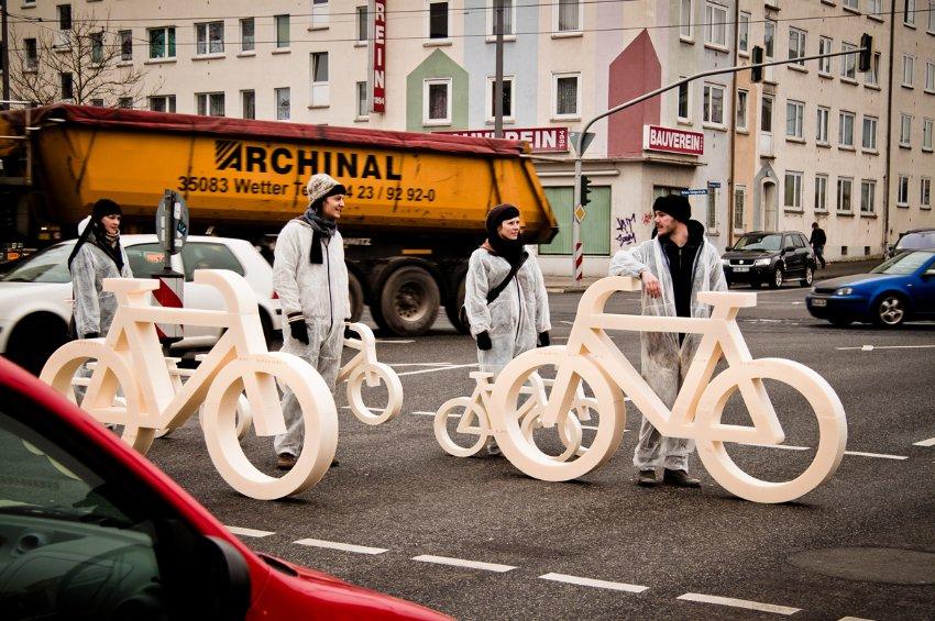 Акция протестов велосипедистов