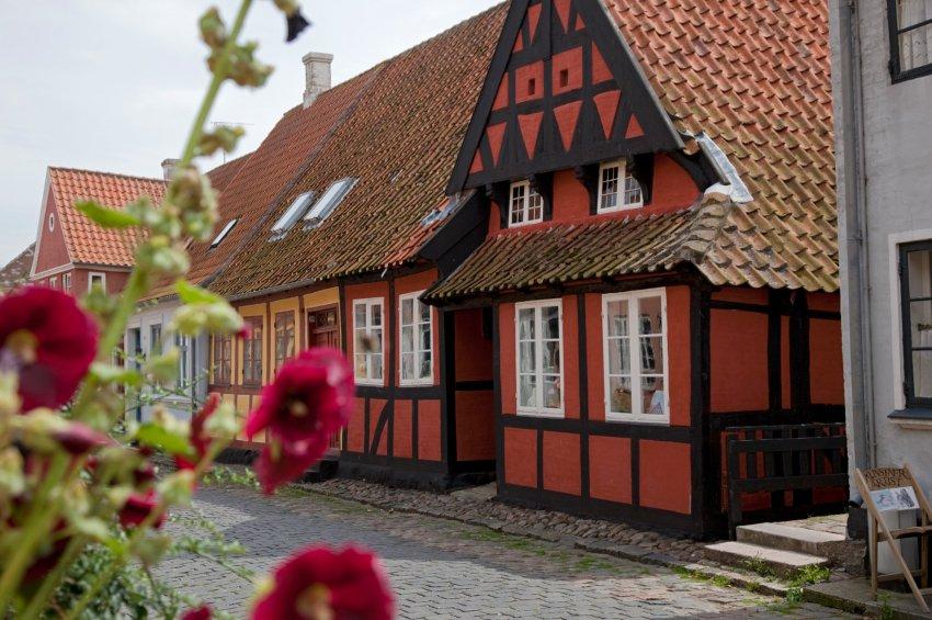 На юге Дании часто можно увидеть дома 17-18 столетий