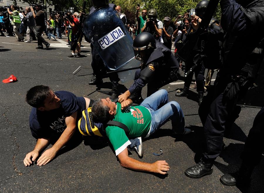 Протесты шахтеров Мадриде