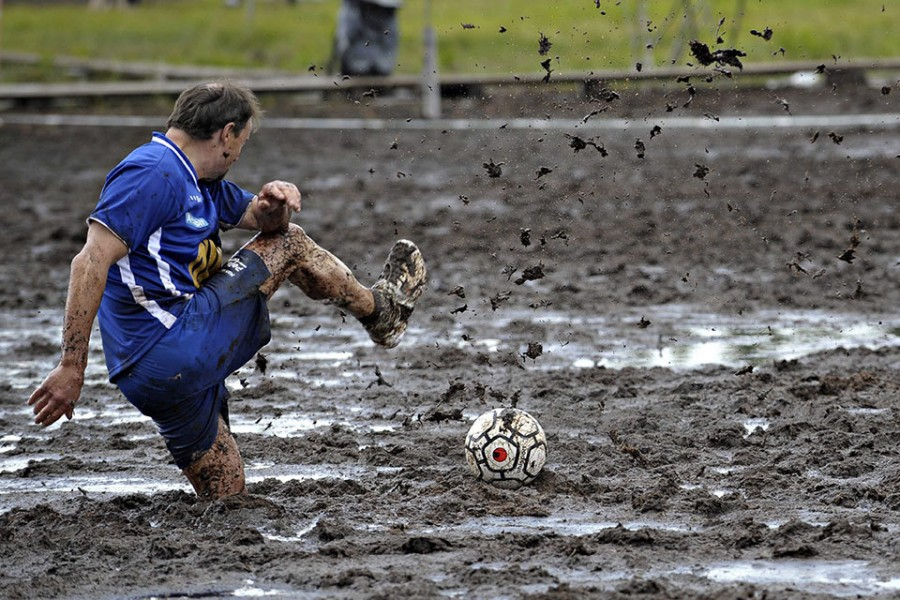 Чемпионат мира по болотному футболу в Финляндии