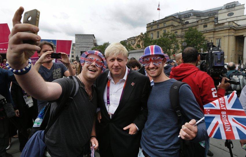 Борис Джонсон с народом