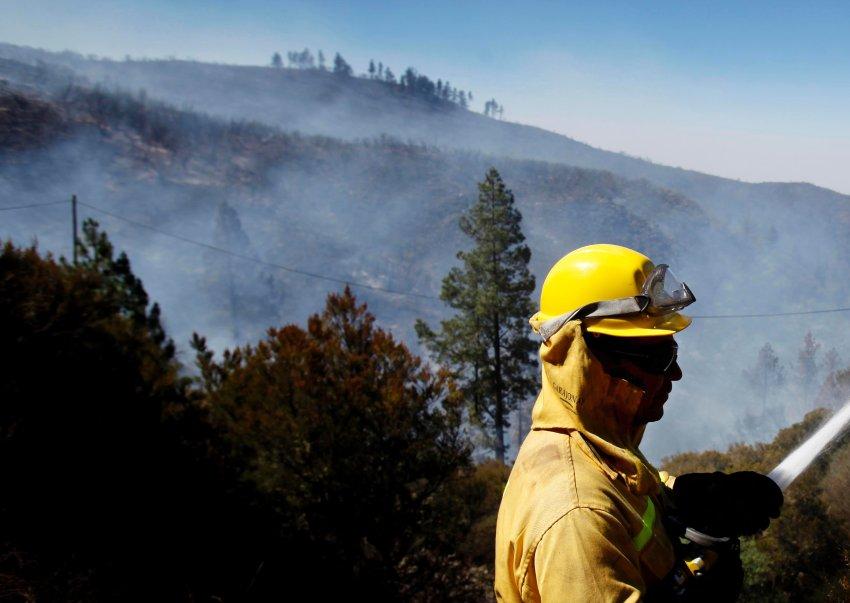 Пожары на Канарах
