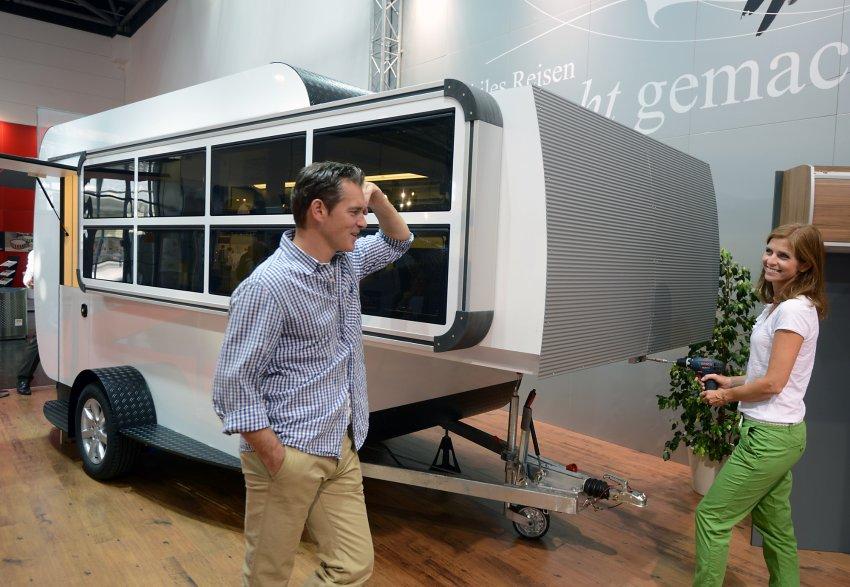 Выставка домов на колёсах в Дюссельдорфе