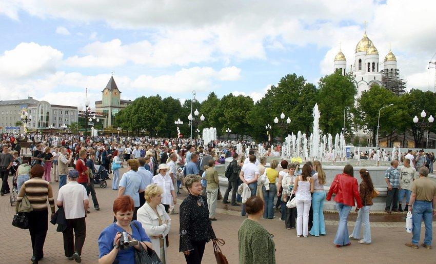 В центре Калининграда