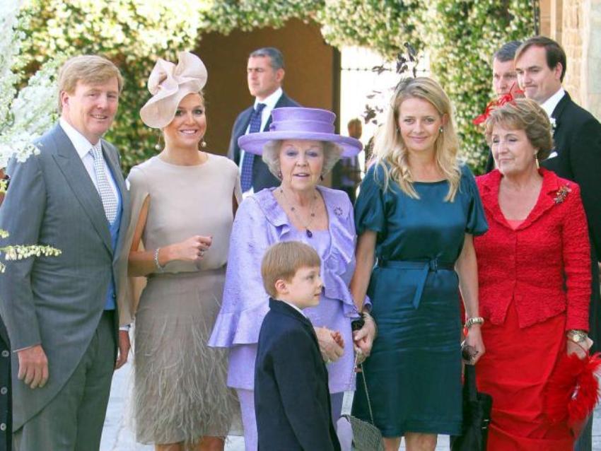 Принцесса Максима с королевской семьей