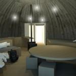 В бывшем бункере можно разместить восемь человек