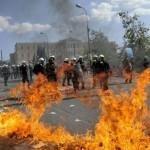 Забастовка в Афинах