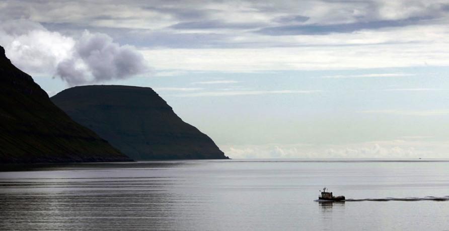 Рыболовное судно возвращается в порт к северу от столицы Torshavn, фото REUTERS / Bob Strong