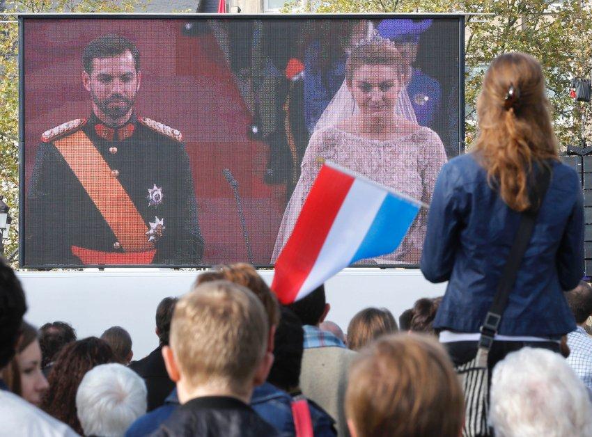 За церемонией наблюдали все жители Люксембурга