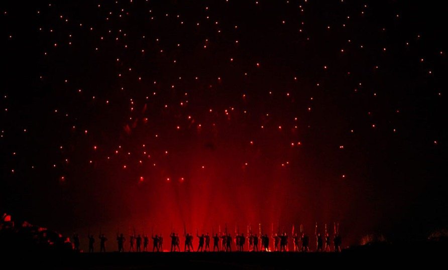 Театральная постановка, провинция Цзянси, Китай, 20 сентября 2012, фото Reuters/Carlos Barria