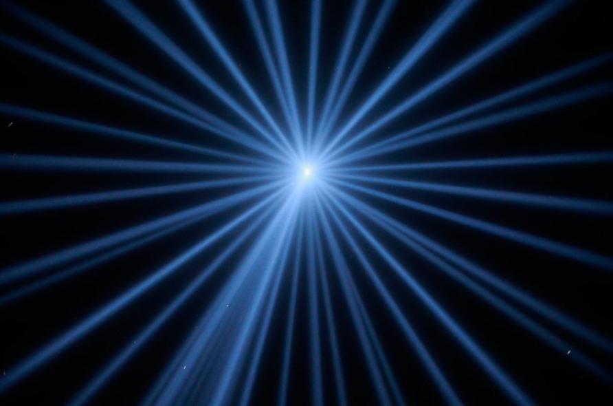 Световые лучи, устремленные в небо, Нью-Йорк, 11 сентября 2012, Reuters/Eric Thayer