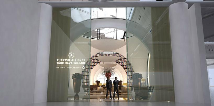Зал в аэропорту Ататюрк компании Turkish Airlines в Стамбуле