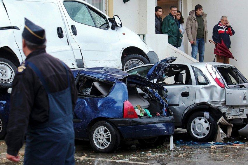 Последствия непогоды в Португалии