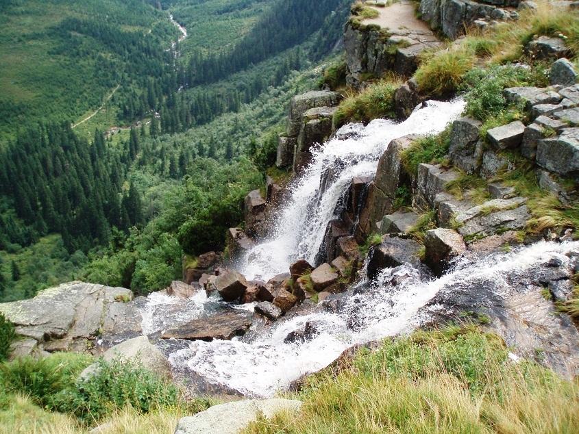 Панчавский водопад в Крконошских горах