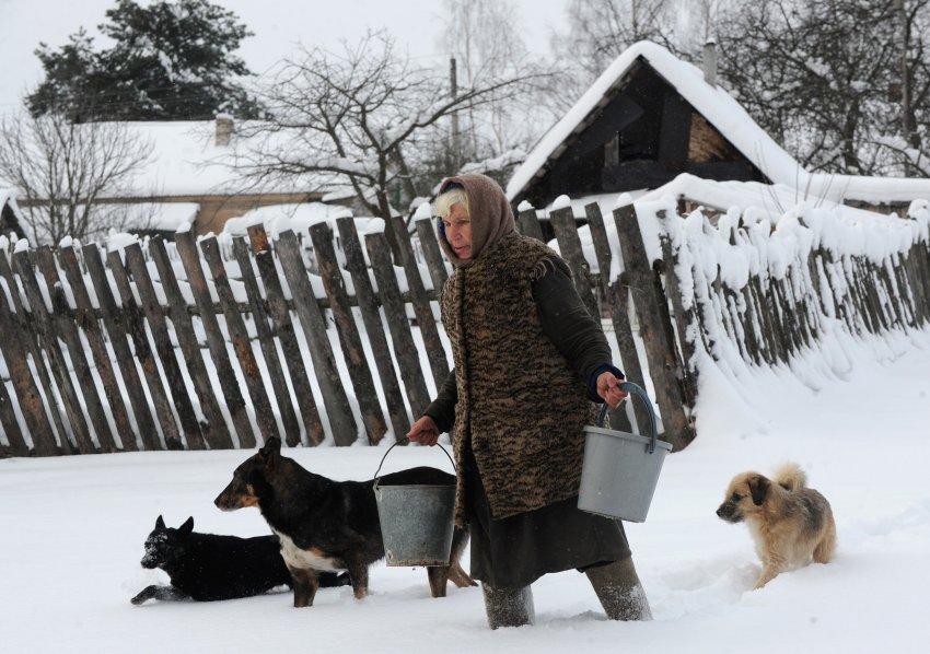 А в Беларуссии всё ещё зима