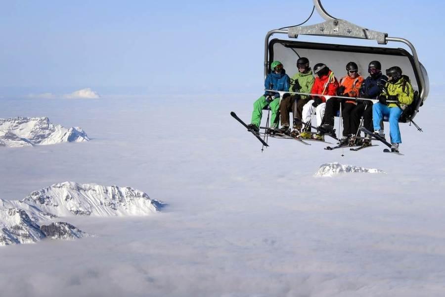 Горнолыжный курорт в швейцарском Engelberg, фото Fabrice Coffrini / AFP - Getty Images