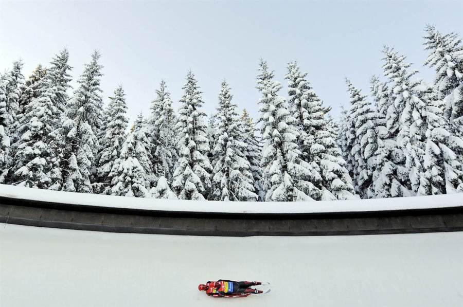 Tobias Wendl и Tobias Arlt в немецком Altenbergсна кубке мира, фото Jens Meyer / AP