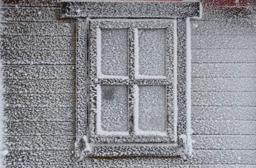 Заснеженное окно в немецком Tabarz, фото Martin Schutt / EPA