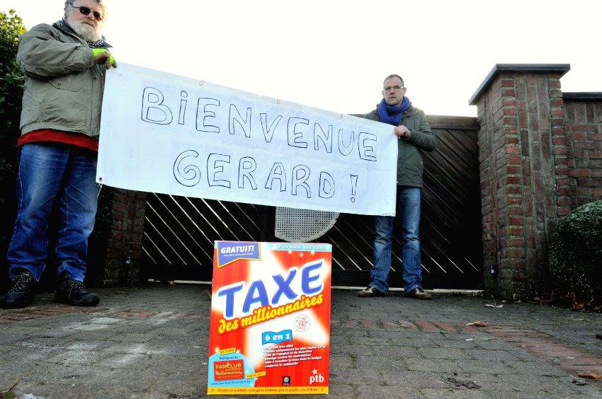 Бельгийская рабочая партия привествует Депардье в Нечине