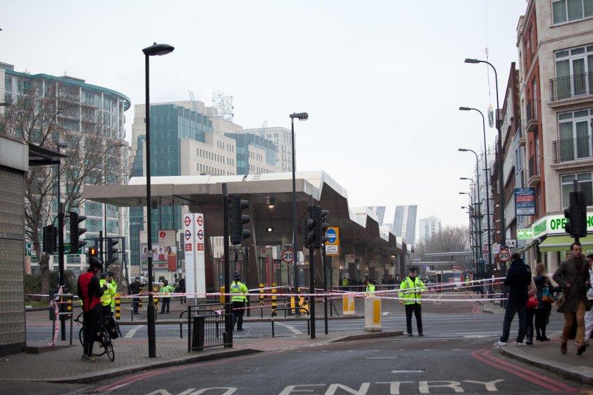В Лондоне упал вертолёт
