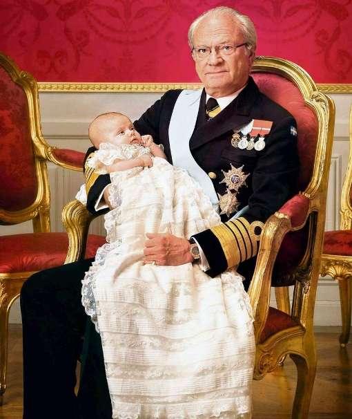 Король Густав с внучкой