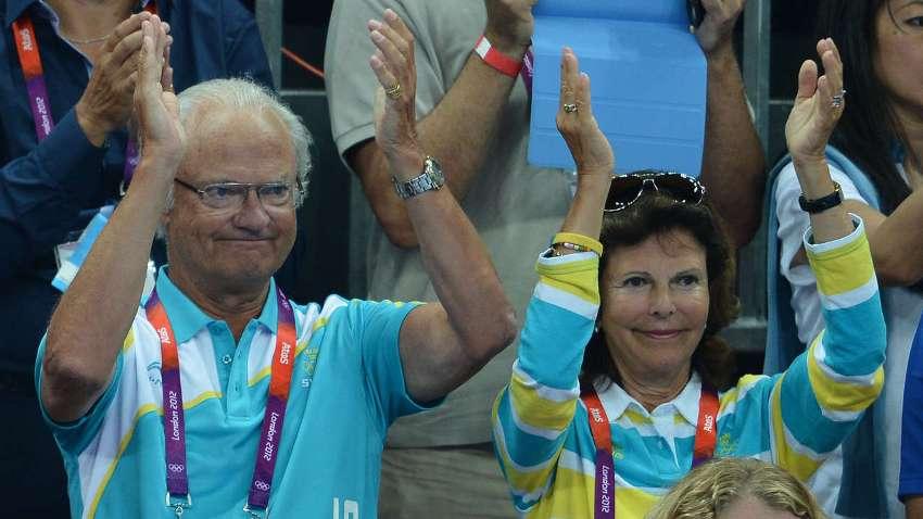 Король Густав с женой