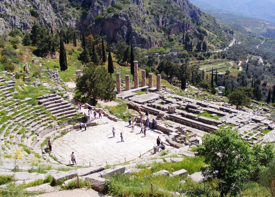 Театр Дельфи - Самые красивые места и достопримечательности Греции