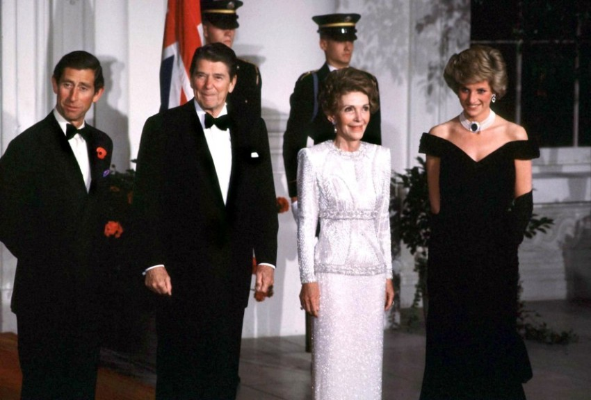 Принц Чарльз, президент Рейган с супругой и принцесса Диана