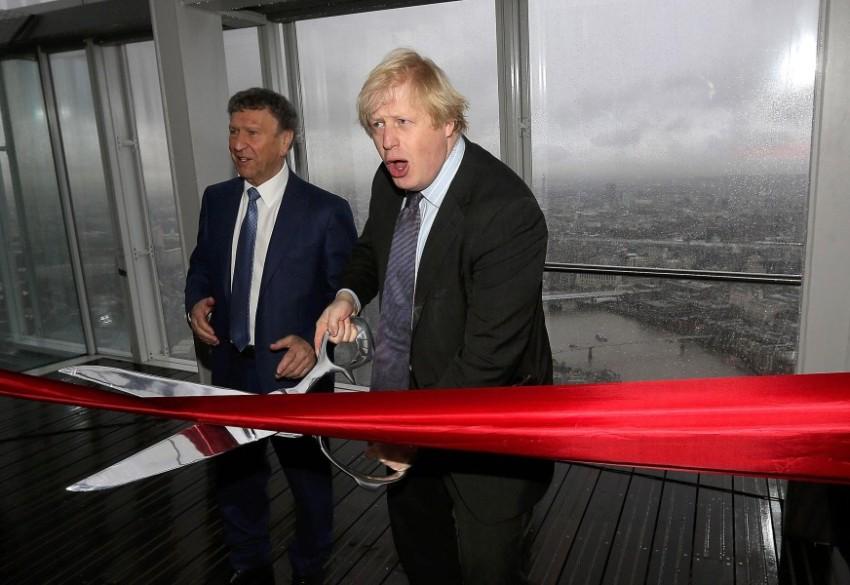 Мэр Лондона на торжественном открытие видовой платформы